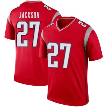 Men's New England Patriots J.C. Jackson Red Legend Inverted Jersey By Nike