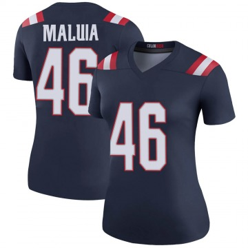 Women's New England Patriots Cassh Maluia Navy Legend Color Rush Jersey By Nike