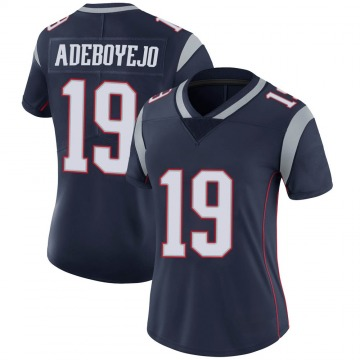 Women's New England Patriots Quincy Adeboyejo Navy Limited Team Color Vapor Untouchable Jersey By Nike