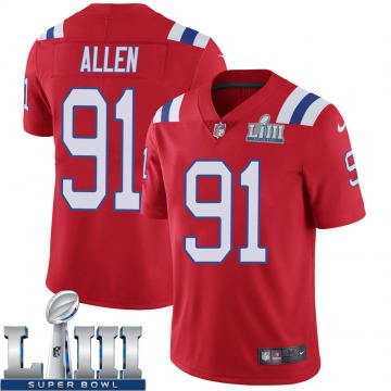 Youth New England Patriots Beau Allen Red Limited Super Bowl LIII Vapor Untouchable Alternate Jersey By Nike