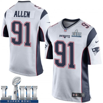 Youth New England Patriots Beau Allen White Game Super Bowl LIII Jersey By Nike