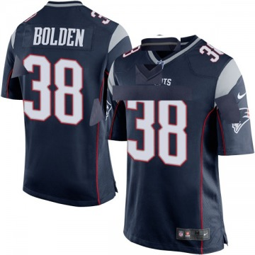 Youth New England Patriots Brandon Bolden Navy Blue Game Team Color Jersey By Nike