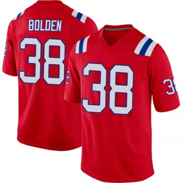 Youth New England Patriots Brandon Bolden Red Game Alternate Jersey By Nike