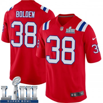 Youth New England Patriots Brandon Bolden Red Game Alternate Super Bowl LIII Jersey By Nike