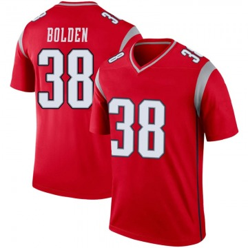 Youth New England Patriots Brandon Bolden Red Legend Inverted Jersey By Nike