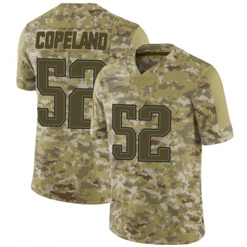 Youth New England Patriots Brandon Copeland Camo Limited 2018 Salute to Service Jersey By Nike