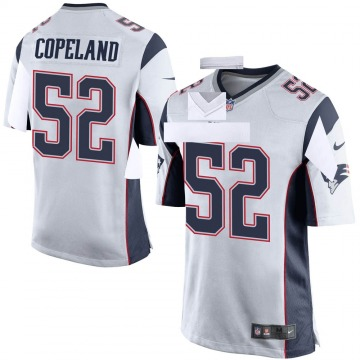 Youth New England Patriots Brandon Copeland White Game Jersey By Nike