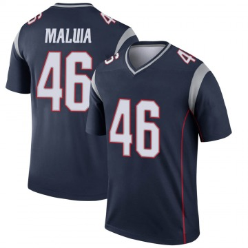 Youth New England Patriots Cassh Maluia Navy Legend Jersey By Nike