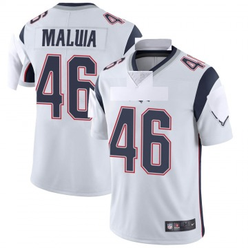 Youth New England Patriots Cassh Maluia White Limited Vapor Untouchable Jersey By Nike