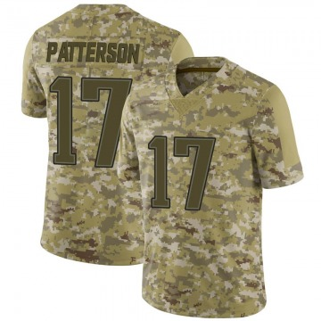 Youth New England Patriots Damoun Patterson Camo Limited 2018 Salute to Service Jersey By Nike