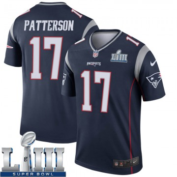 Youth New England Patriots Damoun Patterson Navy Legend Super Bowl LIII Jersey By Nike