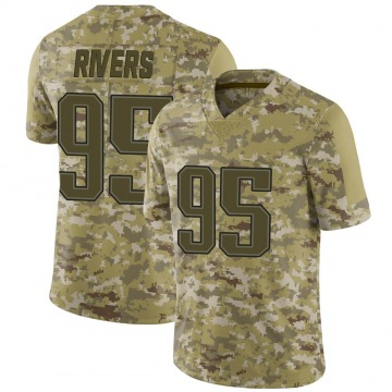 Youth New England Patriots Derek Rivers Camo Limited 2018 Salute to Service Jersey By Nike