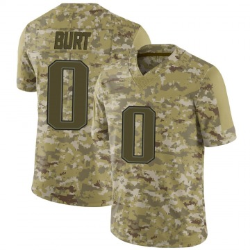 Youth New England Patriots Jake Burt Camo Limited 2018 Salute to Service Jersey By Nike