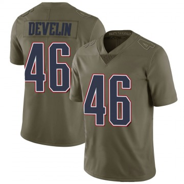 Youth New England Patriots James Develin Green Limited 2017 Salute to Service Jersey By Nike