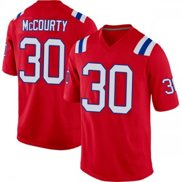 Youth New England Patriots Jason McCourty Red Game Alternate Jersey By Nike