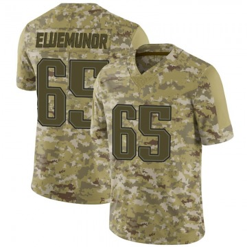 Youth New England Patriots Jermaine Eluemunor Camo Limited 2018 Salute to Service Jersey By Nike