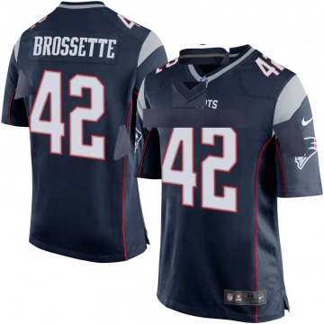 Youth New England Patriots Nick Brossette Navy Blue Game Team Color Jersey By Nike