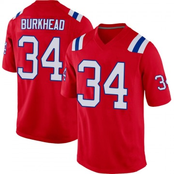 Youth New England Patriots Rex Burkhead Red Game Alternate Jersey By Nike